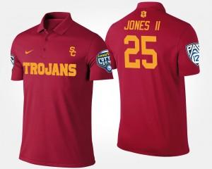 USC Trojans Ronald Jones II Polo #25 Bowl Game Mens Cardinal Pac-12 Conference Cotton Bowl