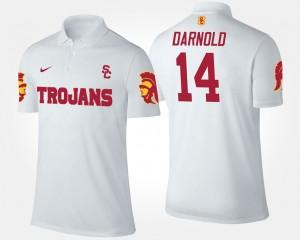 USC Trojans Sam Darnold Polo For Men #14 White