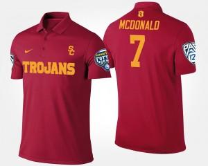 USC Trojans T.J. McDonald Polo Men Pac-12 Conference Cotton Bowl Bowl Game #7 Cardinal