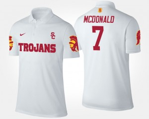 USC Trojans T.J. McDonald Polo #7 White For Men