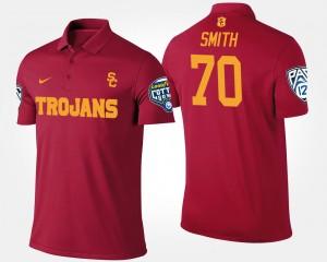 USC Trojans Tyron Smith Polo Cardinal Bowl Game #70 Men's Pac-12 Conference Cotton Bowl
