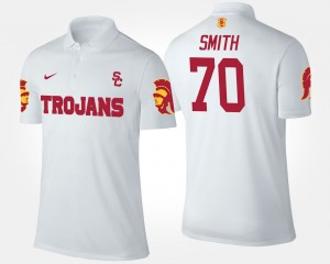 USC Trojans Tyron Smith Polo #70 White For Men's
