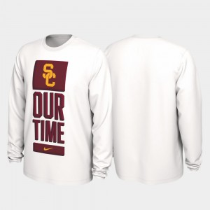 USC Trojans T-Shirt Our Time Bench Legend 2020 March Madness For Men's White
