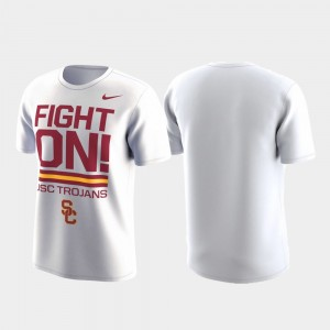 USC Trojans T-Shirt Local Verbiage White Performance For Men