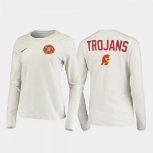 USC Trojans T-Shirt Rivalry White Statement Long Sleeve Mens