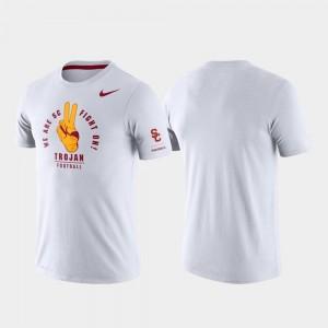 USC Trojans T-Shirt Rivalry Men White Tri-Blend Performance