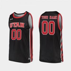 Utah Utes Custom Jersey For Men's #00 2019-20 College Basketball Black Replica