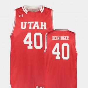 Utah Utes Marc Reininger Jersey College Basketball #40 Replica Men Red