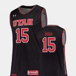 Utah Utes Nate Duda Jersey College Basketball #15 Replica Black Mens