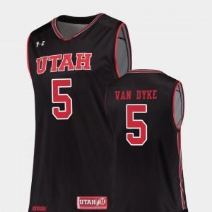 Utah Utes Parker Van Dyke Jersey College Basketball #5 For Men's Replica Black