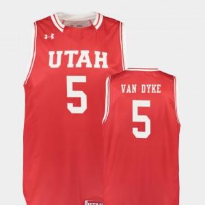 Utah Utes Parker Van Dyke Jersey Replica Men's #5 College Basketball Red