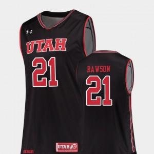 Utah Utes Tyler Rawson Jersey #21 Replica Black College Basketball Men