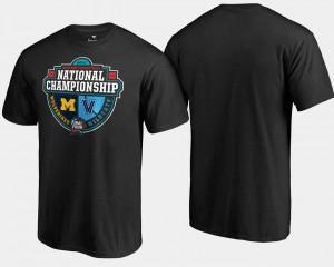 Villanova Wildcats T-Shirt 2018 Basketball National Championship Michigan Wolverines vs. Crossover Matchup Black Mens