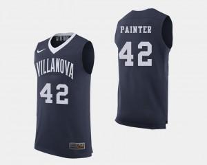 Villanova Wildcats Dylan Painter Jersey #42 Men's Navy College Basketball
