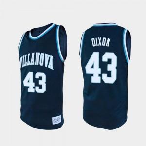 Villanova Wildcats Eric Dixon Jersey #43 College Basketball Men's Navy Alumni
