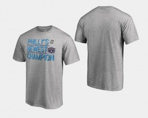 Villanova Wildcats T-Shirt Basketball National Champions Heather Gray Men 2018 Flop