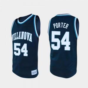 Villanova Wildcats Howard Porter Jersey For Men's College Basketball #54 Navy Alumni