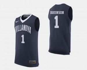 Villanova Wildcats Jalen Brunson Jersey #1 College Basketball Navy Mens