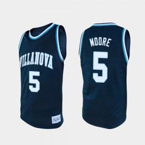 Villanova Wildcats Justin Moore Jersey #5 Men College Basketball Alumni Navy
