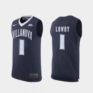 Villanova Wildcats Kyle Lowry Jersey Men's #1 Navy College Basketball Replica