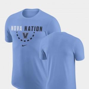 Villanova Wildcats T-Shirt Basketball Team Mens Light Blue