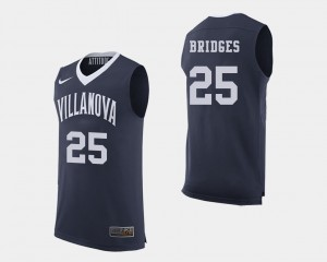 Villanova Wildcats Mikal Bridges Jersey Navy College Basketball #25 Men