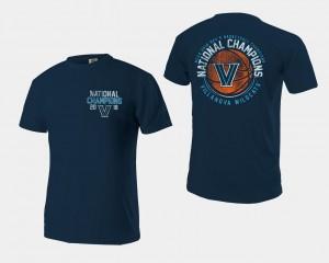 Villanova Wildcats T-Shirt Basketball National Champions Navy For Men 2018 Ball