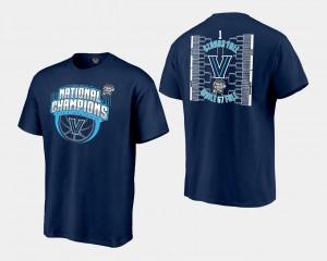 Villanova Wildcats T-Shirt Basketball National Champions 2018 Bracket Navy Men's