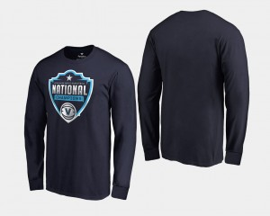 Villanova Wildcats T-Shirt 2018 Cut Long Sleeve Navy Mens Basketball National Champions