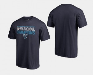 Villanova Wildcats T-Shirt Navy For Men's Basketball National Champions 2018 Dribble Big & Tall