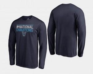Villanova Wildcats T-Shirt Basketball National Champions 2018 Dribble Long Sleeve For Men Navy