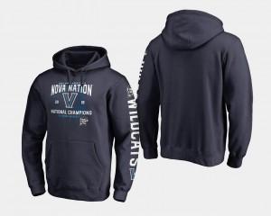 Villanova Wildcats Hoodie Mens Navy 2018 Fastbreak Basketball National Champions