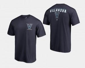 Villanova Wildcats T-Shirt Navy For Men's 2018 Travel Basketball National Champions