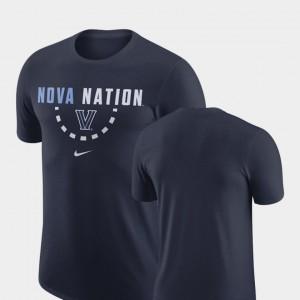 Villanova Wildcats T-Shirt Navy Men Basketball Team
