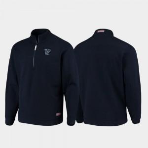 Villanova Wildcats Jacket Quarter-Zip For Men's Shep Shirt Navy