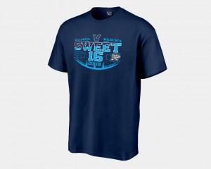 Villanova Wildcats T-Shirt 2018 March Madness Basketball Tournament Sweet 16 Bound Mens Navy