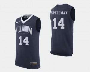 Villanova Wildcats Omari Spellman Jersey College Basketball #14 Navy Mens