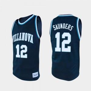 Villanova Wildcats Tim Saunders Jersey Navy #12 College Basketball Alumni Mens