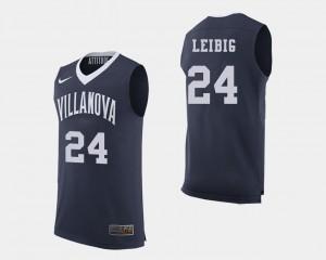 Villanova Wildcats Tom Leibig Jersey #24 Navy For Men's College Basketball