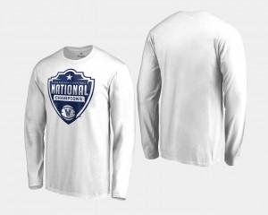 Villanova Wildcats T-Shirt 2018 Cut Long Sleeve Basketball National Champions For Men's White