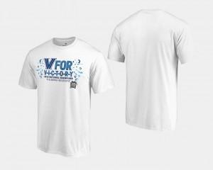 Villanova Wildcats T-Shirt White 2018 Goaltend Basketball National Champions Men's