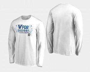 Villanova Wildcats T-Shirt 2018 Victory Long Sleeve Basketball National Champions White Men's