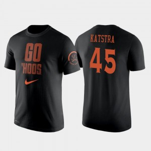 Virginia Cavaliers Austin Katstra T-Shirt Black College Basketball 2 Hit Performance #45 Mens