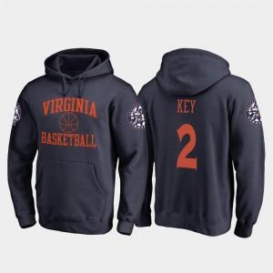 Virginia Cavaliers Braxton Key Hoodie For Men's In Bounds Navy College Basketball #2