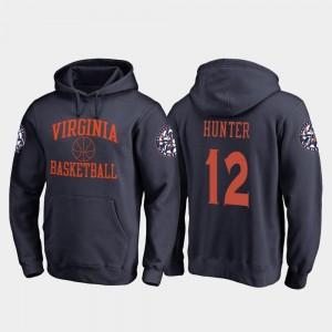 Virginia Cavaliers De'Andre Hunter Hoodie #12 Navy College Basketball Men's In Bounds
