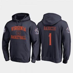 Virginia Cavaliers Francesco Badocchi Hoodie In Bounds Navy College Basketball #1 For Men's