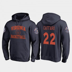 Virginia Cavaliers Francisco Caffaro Hoodie #22 College Basketball Navy For Men's In Bounds