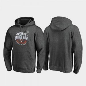 Virginia Cavaliers Hoodie 2019 Orange Bowl Bound For Men's Scrimmage Heather Gray