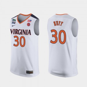 Virginia Cavaliers Jay Huff Jersey White Mens 2019 Final-Four #30