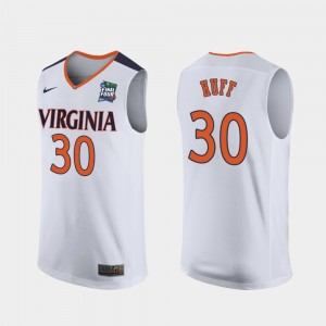 Virginia Cavaliers Jay Huff Jersey For Men's 2019 Final-Four #30 White Replica
